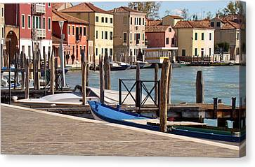 Canvas Print featuring the photograph Murano Dock by Walter Fahmy
