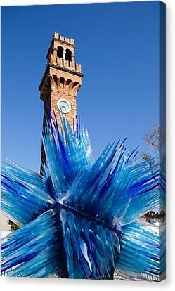 Lampworking Canvas Print - Murano Glass Blues  by Georgia Mizuleva