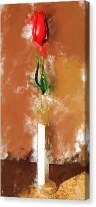 Murano Glass Tulip Canvas Print by Yury Malkov