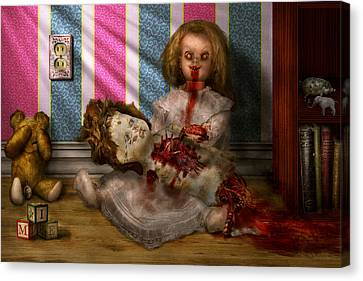 Creepy Canvas Print - Murder - Appetite For Blood by Mike Savad
