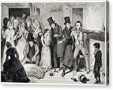 Murder Canvas Print by British Library