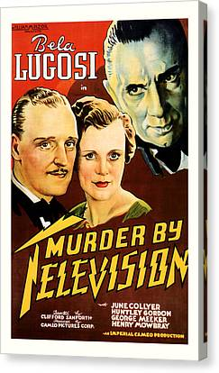 Murder By Television 1935 Canvas Print by Presented By American Classic Art