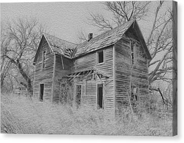 Abandoned Homes Canvas Print - Abandoned House by Chris Harris