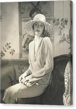 Clutch Bag Canvas Print - Muriel Finley Wearing A Dress By Lanvin by Edward Steichen