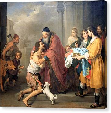Murillo's The Return Of The Prodigal Son Canvas Print by Cora Wandel