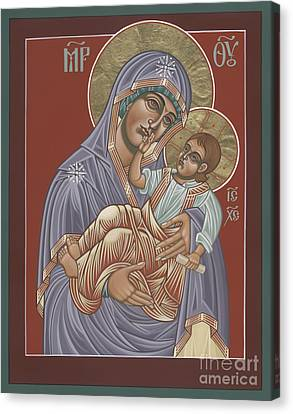 Canvas Print featuring the painting Murom Icon Of The Mother Of God 230 by William Hart McNichols