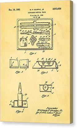 Murphy Disposable Medical Tray Patent Art 1961 Canvas Print by Ian Monk