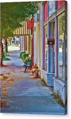 Murphy Nc Sidewalk Canvas Print by Kenny Francis