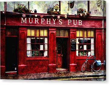 Canvas Print featuring the photograph Murphy's Pub by Brian Tarr