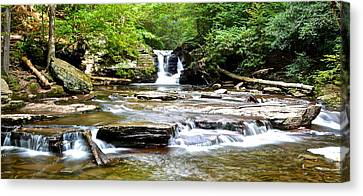 Marvelous View Canvas Print - Murray Reynolds Falls by Frozen in Time Fine Art Photography