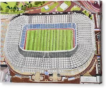 Murrayfield Stadia Art - Scotland Rugby Union Canvas Print