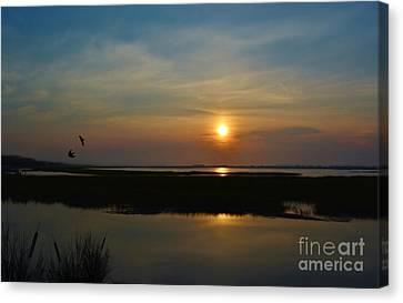 Murrells Inlet Sunrise Canvas Print by Kathy Baccari