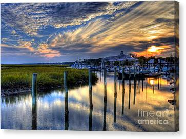 Murrells Inlet Sunset 1 Canvas Print by Mel Steinhauer