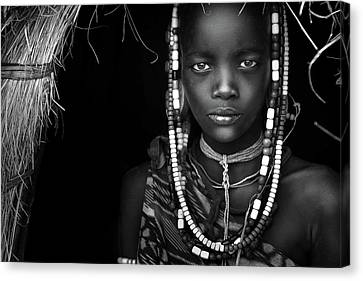 Mursi Girl Canvas Print by Hesham Alhumaid