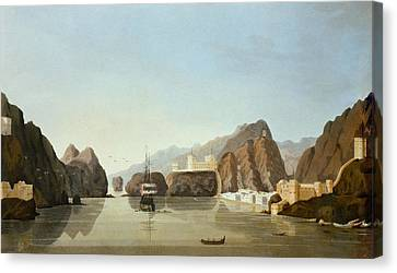 Muscat From The Harbour With A British Canvas Print by English School