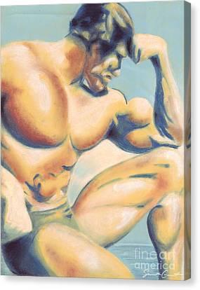 Muscle Beach Canvas Print