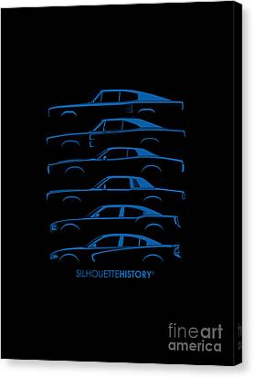 Muscle Charlie Silhouettehistory Canvas Print
