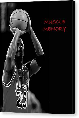 Canvas Print featuring the painting Muscle Memory by Brian Reaves