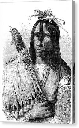 Native American Clothes Canvas Print - Muscogee Chief by Collection Abecasis