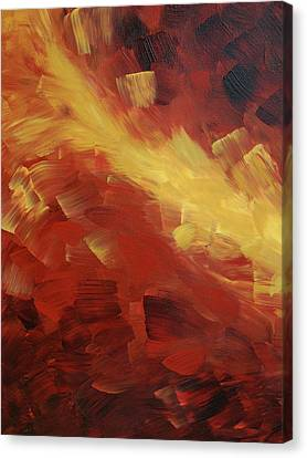 Muse In The Fire 1 Canvas Print