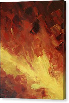 Muse In The Fire 2 Canvas Print by Sharon Cummings