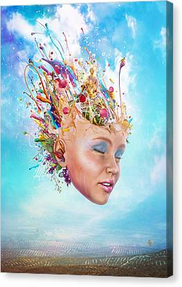 Muse Canvas Print by Mario Sanchez Nevado
