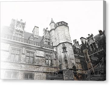 Musee De Cluny When The World Was Flat Canvas Print by Evie Carrier