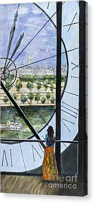 Musee D'orsay In Paris By Sandy Taffin Canvas Print by Sheldon Kralstein