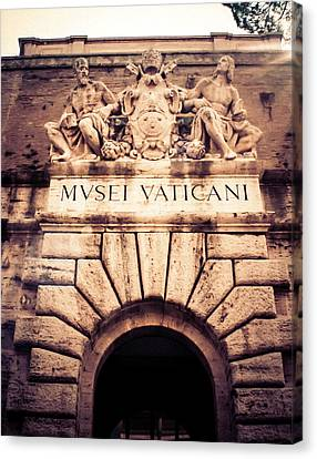 Canvas Print featuring the photograph Musei Vaticani Uscita by Rob Tullis