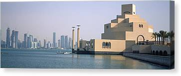 Museum At The Waterfront, Museum Of Canvas Print by Panoramic Images