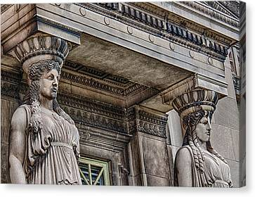 Museum Caryatids Canvas Print by Mike Burgquist