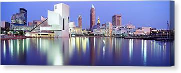 Museum, Rock And Roll Hall Of Fame Canvas Print by Panoramic Images