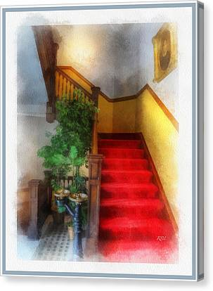 Museum Stairs Canvas Print by Rick Lloyd
