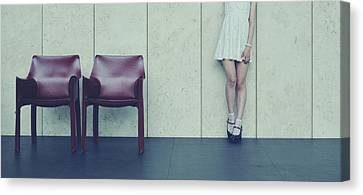 Empty Chairs Canvas Print - Museum by ??[u-kei]