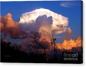 Mushroom Cloud At Sunset Canvas Print by Doris Wood