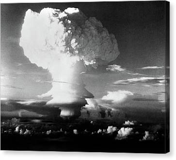 Atomic Bomb Canvas Print - Mushroom Cloud From Atomic Bomb Set by Vintage Images