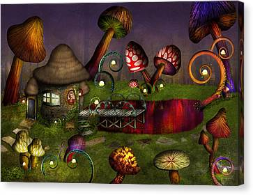 Mushroom - Deep In The Bayou Canvas Print by Mike Savad
