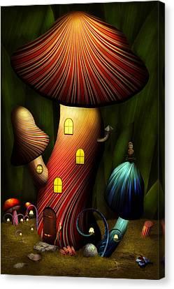 Shrooms Canvas Print - Mushroom - Magic Mushroom by Mike Savad