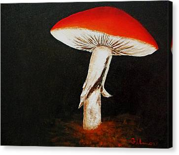Canvas Print featuring the painting Mushroom by Roseann Gilmore