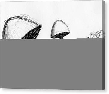Mushrooms Canvas Print by Jennifer Atherton