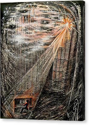 Sun Rays Canvas Print - Music. Bach by  Svetlana Nassyrov