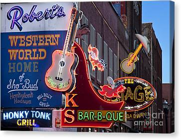 Music Clubs Nashville Canvas Print by Brian Jannsen