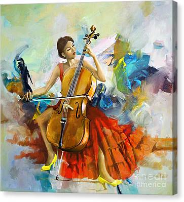 Music Colors And Beauty Canvas Print by Corporate Art Task Force