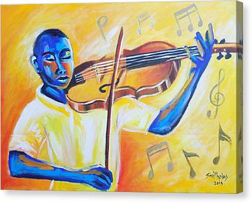 Music For The Soul Lets Play Canvas Print by Olaoluwa Smith