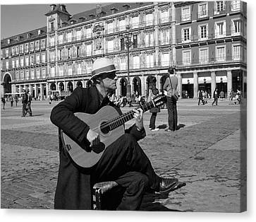 Music-guitarist Canvas Print