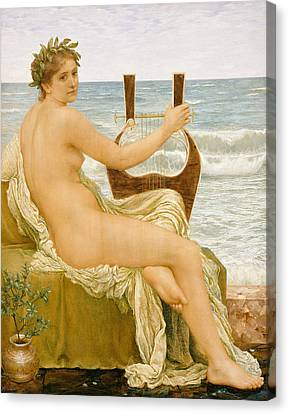 Lute Canvas Print - Music by Henry Holiday