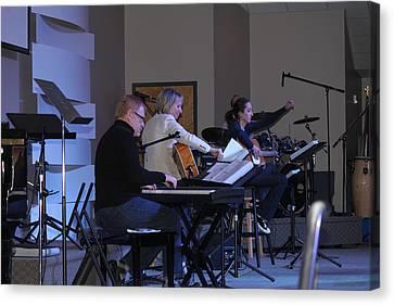 Music In Church Canvas Print by Carolyn Ricks