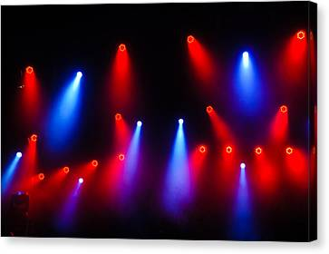 Music In Red And Blue - The Wonderful Sound Of Nightlife Canvas Print