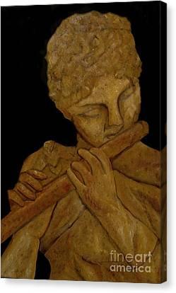 Music In Stone Canvas Print by Nancy Bradley