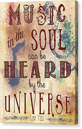 The Universe Canvas Print - Music In The Soul by Heather Applegate